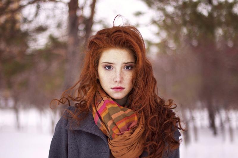 Девушка рыжая фото