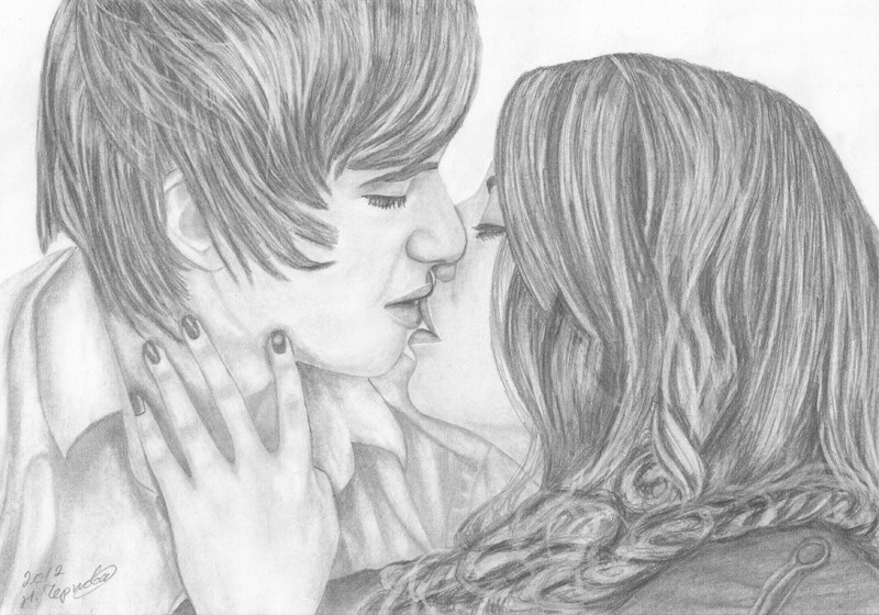 нарисованные поцелуи картинки