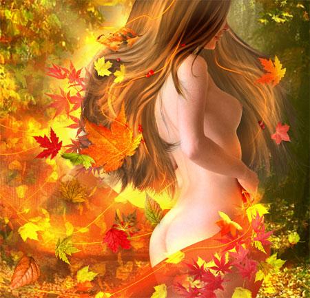 """Стихотворение """"Шикарная женщина - осень"""""""