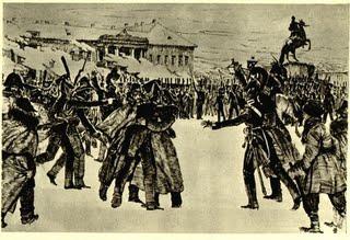 Восстание декабристов на Сенатской площади в Петербурге в 1825 году.  Кардовский Д.А. kardovskij_004.jpg:320x219, 25k.