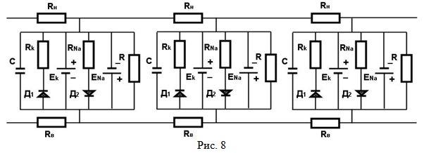 С - электрическая емкость