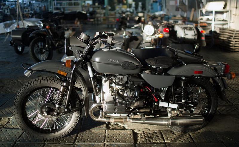 Тюнингованый мотоцикл Урал