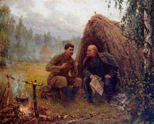 знакомые лица ленин и сталин