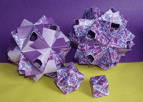 Описание: Оригами для детей и начинающих, как сделать поделки из бумаги, схемы сборки, модульное оригами.