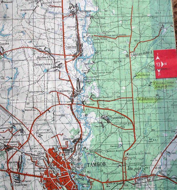 Карта описываемого района