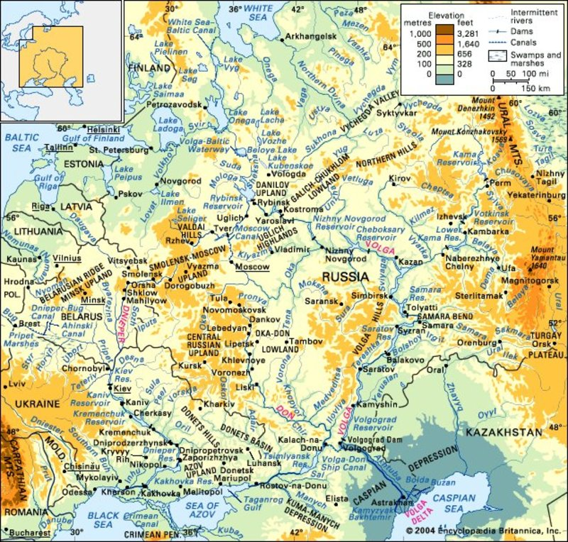 Современная карта Восточной
