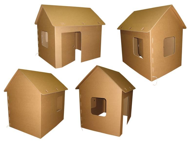 Дом коту своими руками из картона