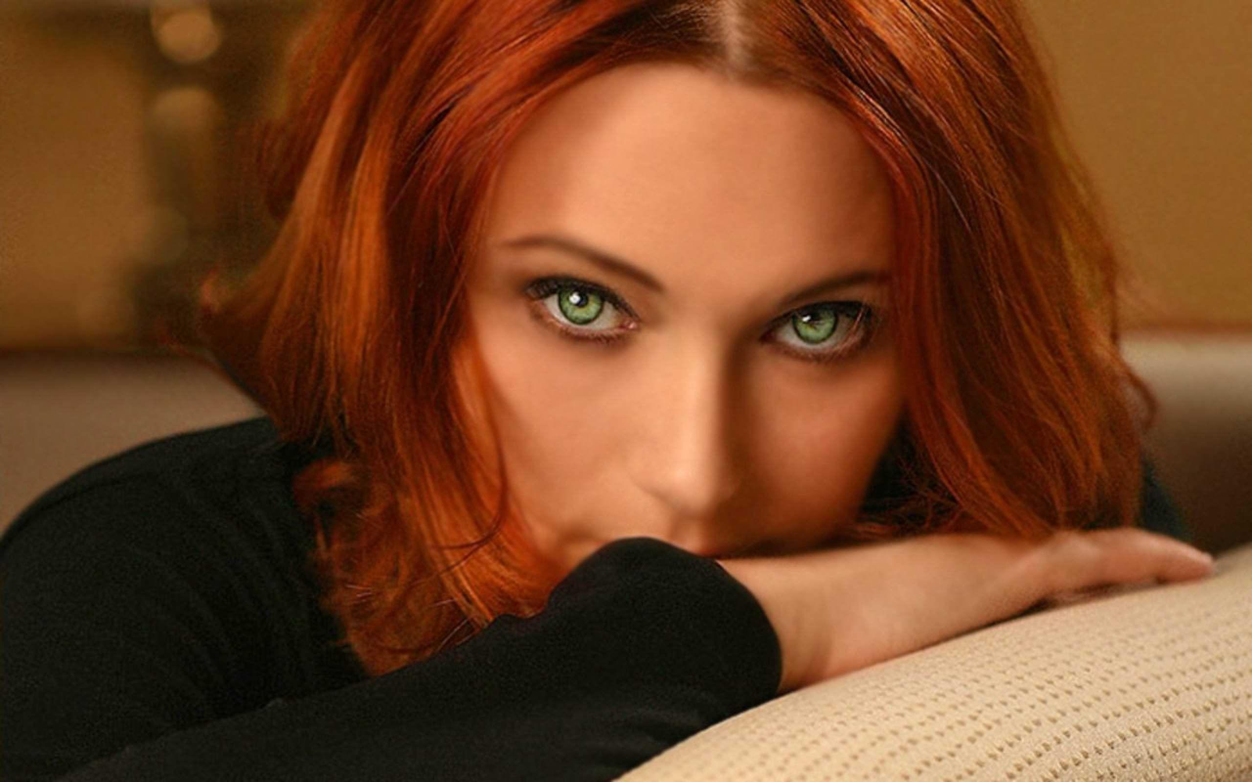 Фото красивых девушек с рыжими волосами и зелеными глазами 16 фотография
