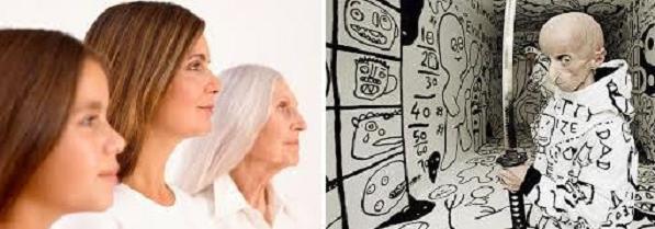 Естественное старение и прогерия [Фото по теме из интернета]