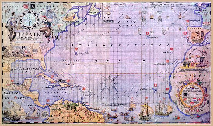 Пиратская карта своими руками фото 681