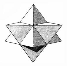 Неоднократно упомянутый звёздный тетраэдр. И да, в тексте он ещё появится [Без понятия кто автор]