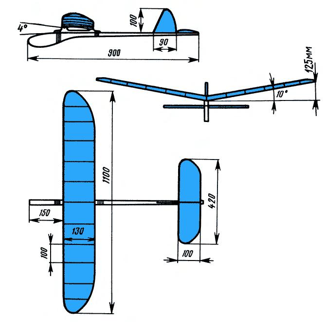 Чертежи модель планера