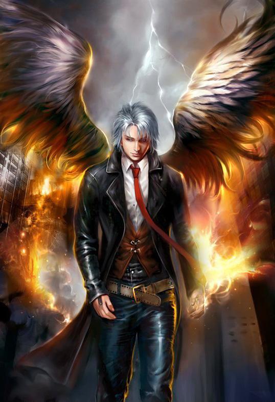 картинки девушка полу ангел полу демон