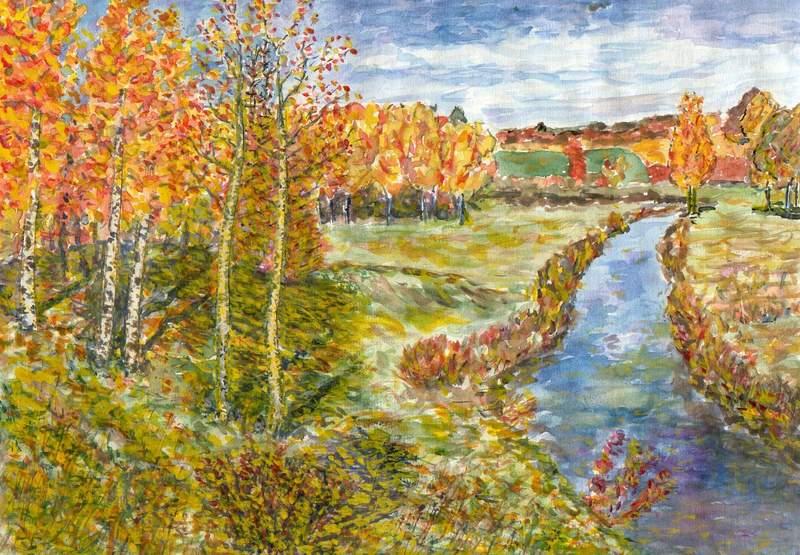 Рисунок золотая осень 7 класс 5