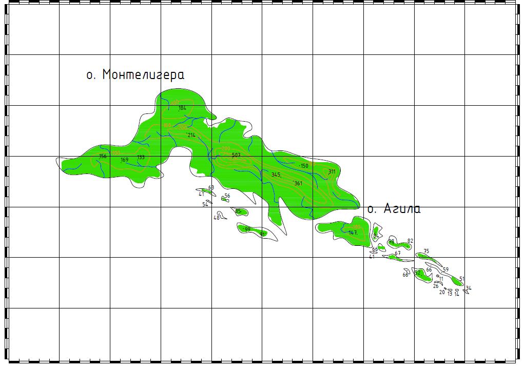 Подробный  план архипелага [ автор]