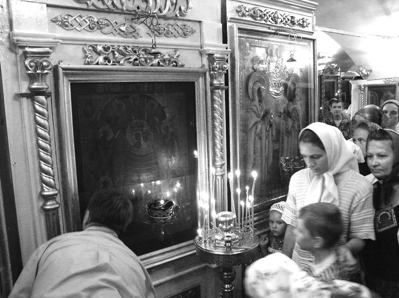 Негр залез на казанской иконы божией матери