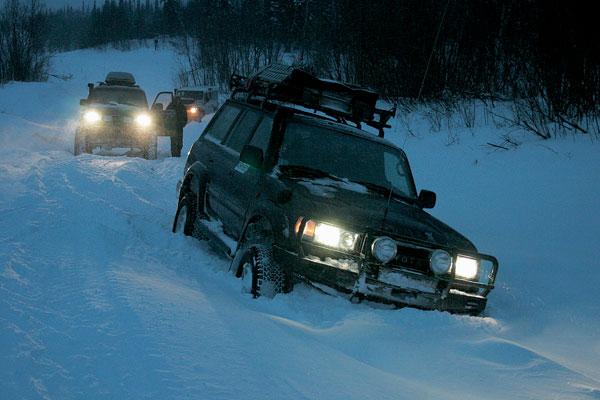Дорога сильно петляла - зимник