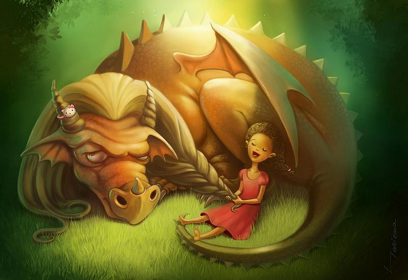 Секс с единорогом и дракон