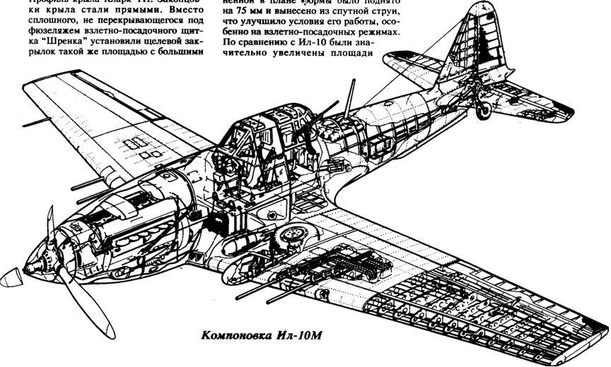 Компоновочная схема Ил-10м.