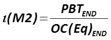 The indicator ζ (М2) is calculated by the formula  [Alexander Shemetev]