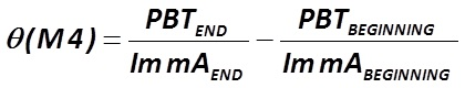 The indicator θ (М4) is calculated by the formula  [Alexander Shemetev]
