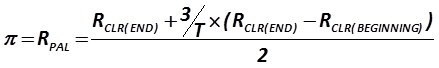 The indicator π is calculated by the formula [Russian legislative approach]