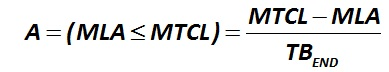The indicator А (MLA  ≤  MTCL)  is calculated by the formula [Alexander Shemetev]