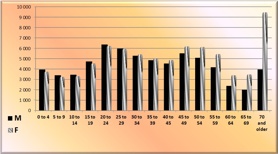 Schedule: The sex-and age-grading of the population in Russia in