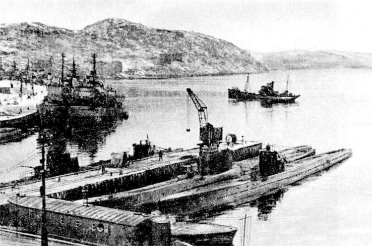 главная база Северного флота пос. Полярный 1939...