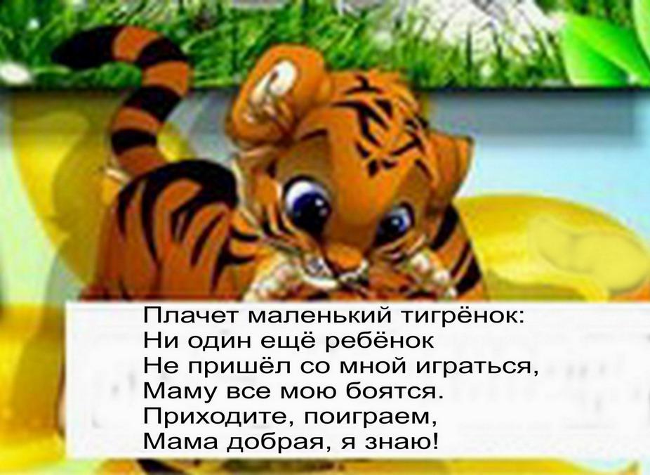 Детский стих мой тигренок