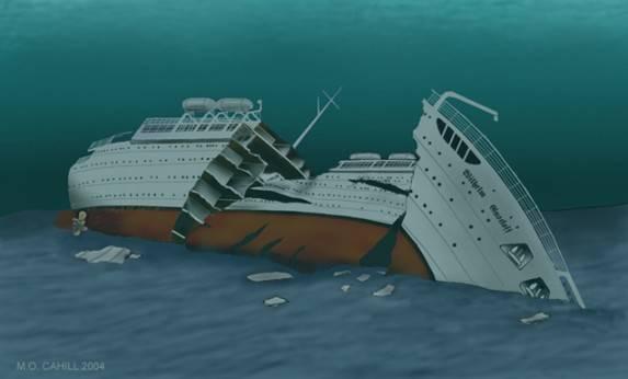 лодка потопила лайнер