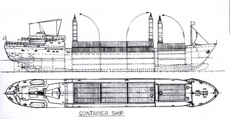 схема контейнеровоза