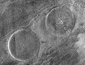 Радиолокационное изображение вулканических куполов в форме