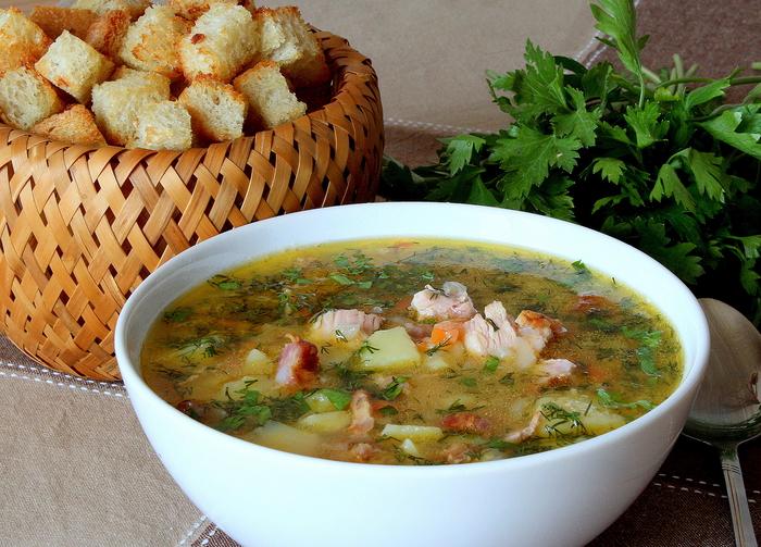 Суп с копчёностями рецепт