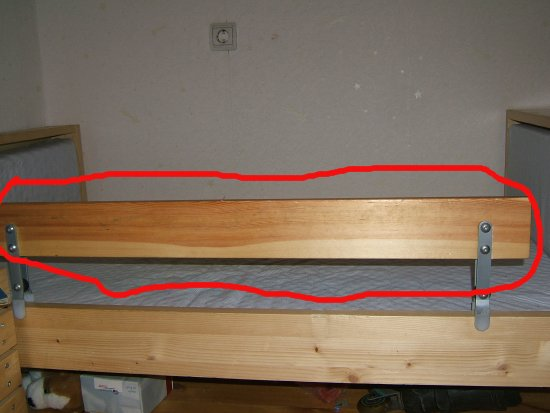 Бортик на кровать от падения своими руками